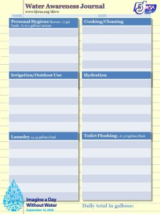 One Page Mini Water Awareness Journal
